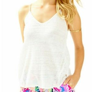 Lilly Pulitzer Dusk Sweater Tank, Resort White
